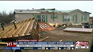 National Weather Service to survey Cherokee County storm damage