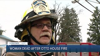 One person dead, three hospitalized after fire destroys an Otto house early Thursday