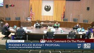 Phoenix police budget proposal