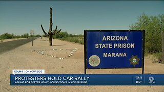 Protesters hold car rally for concern about safety in Arizona's prisons during pandemic