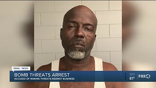 Man arrested for making bomb threats against a local business