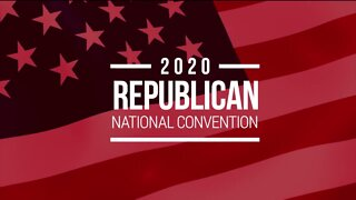 Michigan GOP Chair Laura Cox speaks after first day of 2020 RNC