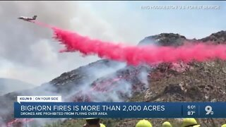 Bighorn Fire now 2,550 acres , 10% contained
