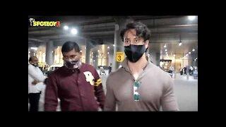 Tiger Shroff & Disha Patani snapped at the Airport | SpotboyE