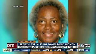 70-year-old woman missing in Las Vegas