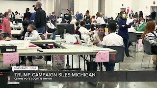 Trump campaign sues Michigan over ballot count