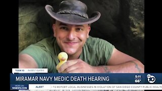 Hearing for Navy medic charged in connection with death of fellow medic