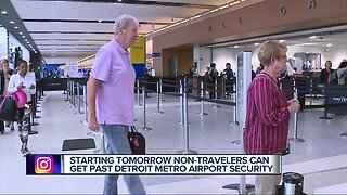 Starting Tuesday non-travelers can get past Detroit metro Airport Security