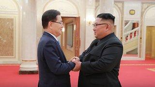 South Korean Delegation Meets With Kim Jong-Un