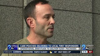 Care pouches delivered to local first responders