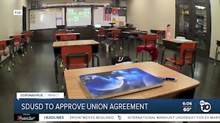 SD Unified set to approve teachers union agreement