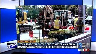 12 inch water main break closes off portions of Belair Road