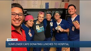 Sunflower Cafe donates lunches to hospital