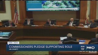 Lee County commissioners met today