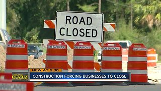 New Tampa business owners say Bruce B Downs construction is hurting business