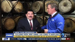 Guillermo from Jimmy Kimmel Live! visits Guinness brewery in Halethorpe