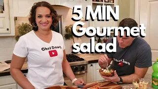 How to make Restaurant Style Salad With Everyday Costco Ingredients   Chef Dawg