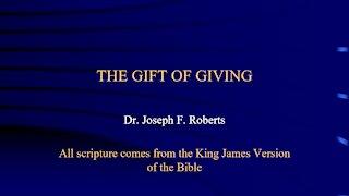 Spiritual Gifts 7 - Giving