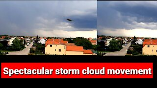 Spectacular storm cloud movement