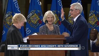 Tony Evers sworn in as governor