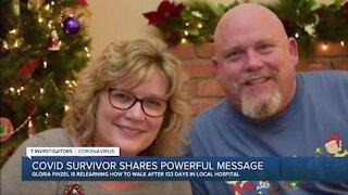 COVID survivor shares powerful message