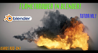 Blender 2.82 Flamethrower tutorial: Ft. KHAOS add-on/fire shader!