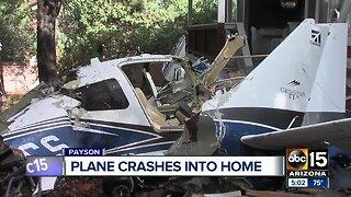 Pilot dies after plane crashes into Payson home