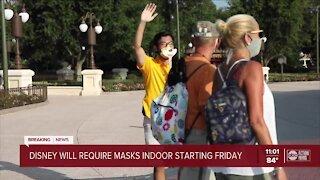 Walt Disney World requiring masks indoors again, regardless of vaccination status