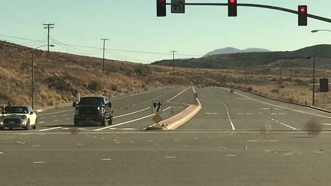 Runaway tumbleweeds create unique road hazard