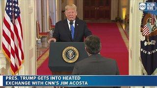 Trump scolds CNN reporter during presser