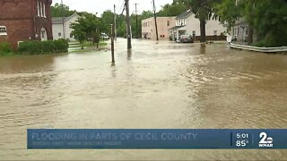Flooding in parts of Cecil County, water rescues needed