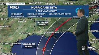 Tracking Hurricane Zeta