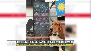 Maher Feed and Pet Supply open and feeding furry friends