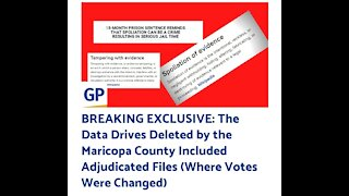 BREAKING: Maricopa County Elections Officials DELETED all DATABASE from Voting Machines