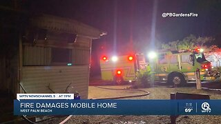 Mobile home fire extinguished near Palm Beach Gardens, no injuries reported