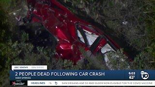 2 dead after car crash in Deer Springs area