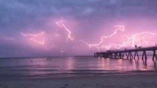 Spectacular thunderstorm hits Australia