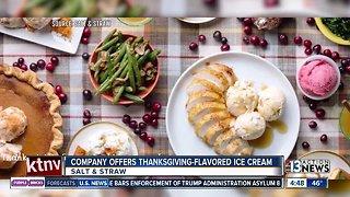 Thanksgiving-flavored ice cream