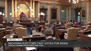 Michigan electors cast Electoral College votes for Joe Biden, Kamala Harris