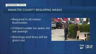 Manatee County passes mask mandate effective immediately