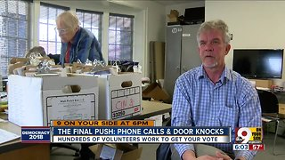 Hundreds of volunteers campaign ahead of Election Day