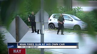 Man abandons vehicle, fires shots after crash on 94