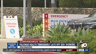 Protest over temporary layoffs at Palomar Health
