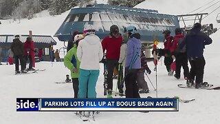 Parking lots fill up at Bogus Basin again