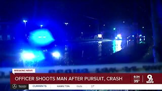 Man shot by police in Colerain Twp. after chase, crash Monday morning