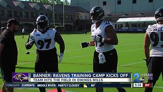 Ravens, Pierce hit the field for training camp