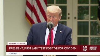 President Trump and first lady test positive for coronavirus