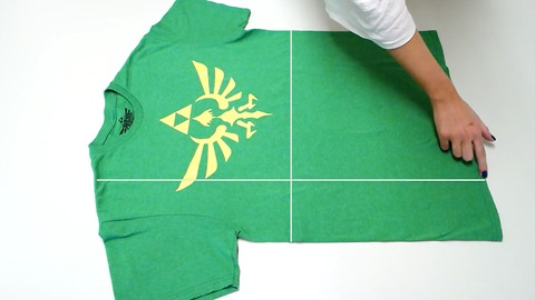 Folding a t-shirt in under 2 seconds with perfect results