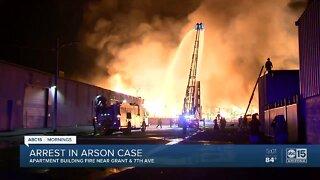 Arrest made in downtown Phoenix arson
