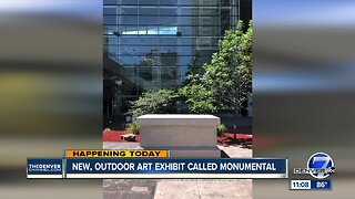 New outdoor exhibit opens today called Monumental